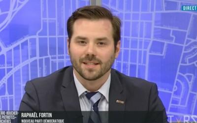 Raphaël Fortin se distingue positivement lors du débat sur les ondes de TVRS