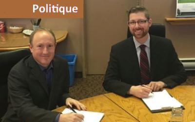 Sécurité ferroviaire: première rencontre de travail entre le maire Jean Martel et le député Xavier Barsalou Duval