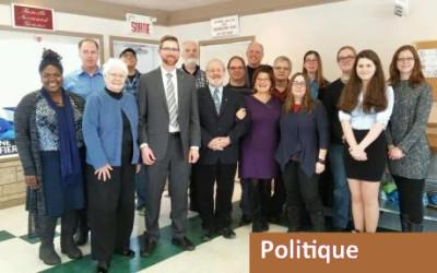 Assemblée générale du Bloc Québécois:  Xavier Barsalou-Duval et les militants en route pour l'indépendance