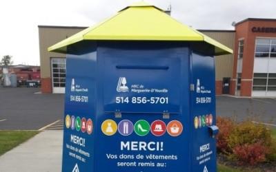 Les boîtes de dons de la MRC de Marguerite-D'Youville:  pratiques et sécuritaires