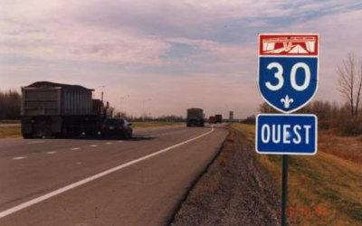 Reprise des travaux de reconstruction de l'autoroute 30, entre Contrecoeur et Sorel-Tracy