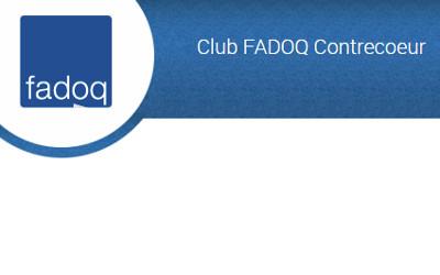 FADOQ de Contrecœur: collecte de sang et renouvellement de cartes