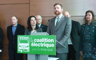Une coalition multipartite d'élus veut faire de l'agglomération de Longueuil la capitale du transport électrique en Amérique du Nord