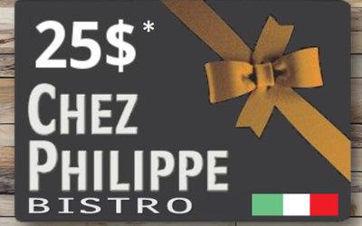 Concours «Gagnez une des trois cartes-cadeaux de 25$ du Bistro Chez Philippe»: nous avons 3 gagnantes!