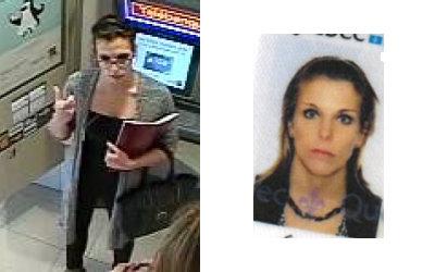 Fraude et vol d'identité: suspecte recherchée