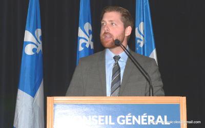 Dans la circonscription de Xavier Barsalou-Duval: 350 membres du Bloc Québécois réunis en Conseil général à Boucherville
