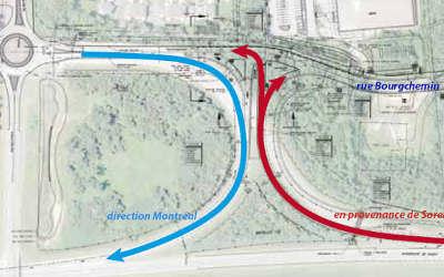 Entrée et sortie 119 de l'autoroute 30 Ouest à Contrecoeur: fermeture temporaire des bretelles