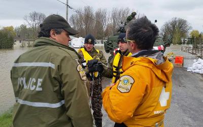 Crue des eaux et inondations: la Sûreté du Québec à l'oeuvre
