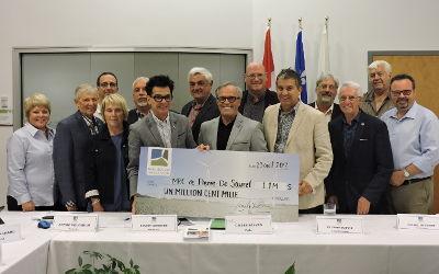 Parc éolien Pierre-De Saurel remet un premier chèque significatif à la MRC du même nom