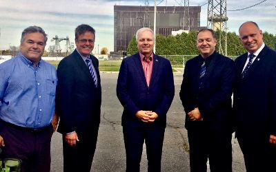 Visite de l'Institut de recherche en énergie du Québec: le chef du Parti Québécois, Jean-François Lisée, de passage dans la circonscription de Verchères