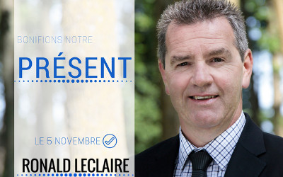 Ronald Leclaire veut bonifier le présent pour la Ville de Contrecoeur