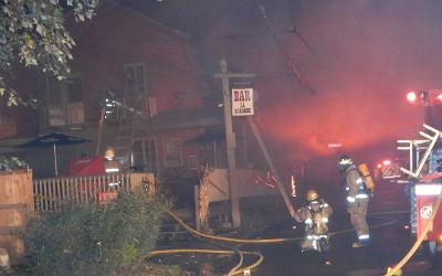 Nuit chaude à Saint-Roch-de-Richelieu: incendie au Bar La Baraque