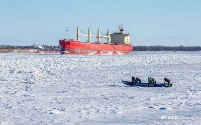 L'équipe soreloise emboite le pas des courses du Circuit québécois de canot à glace
