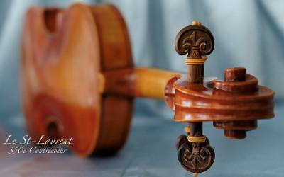 Un violon dédié au fleuve Saint-Laurent et au 350e de Contrecœur fait à la main par un luthier de la région