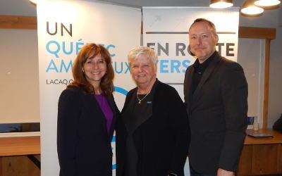 Lancement officiel réussi de la campagne électorale de la candidate de la CAQ, Madame Suzanne Dansereau