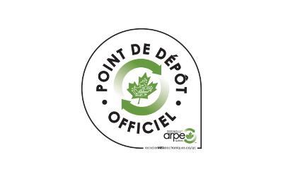 Un point de dépôt officiel de l'ARPE-Québec sur le territoire de la MRC de Pierre-De Saurel