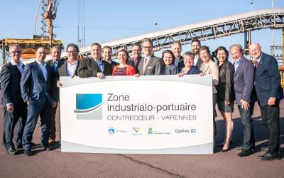 La Zone industrialo-portuaire (Zone IP) Contrecœur- Varennes présente son image de marque