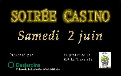 Saint-Antoine-sur-Richelieu: Soirée Casino bénéfice !