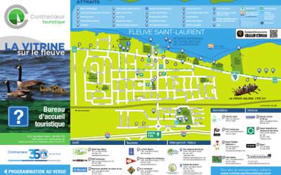 La nouvelle carte touristique 2018 de la Ville de Contrecœur: disponible gratuitement sur l'application LeContrecourant.com