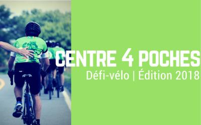 Le 14 juillet prochain: Défi-vélo du Centre aux 4 Poches