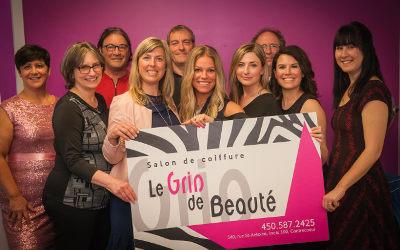 Un 15e anniversaire festif pour le Salon de coiffure Le Grin de beauté