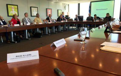 Participation de la mairesse de Contrecoeur, Mme Maud Allaire:  l'UMQ en mission en France pour contribuer à résorber les besoins en main-d'œuvre des municipalités
