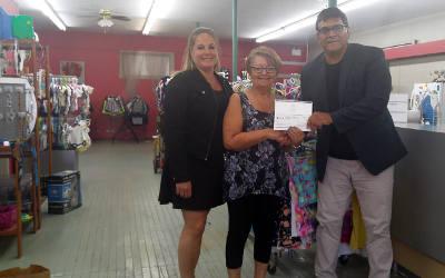 La MRC de Marguerite-D'Youville remet une subvention de 3 000 $ au Centre d'action bénévole de Contrecœur