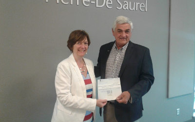 Parc éolien Pierre-De Saurel aura versé, pour l'année 2017, 1 759 866 $ à son actionnaire unique, la MRC de Pierre-De Saurel!