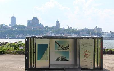 Exposition itinérante de photographies maritimes: le conteneur transformé en galerie d'art arrive à Contrecœur