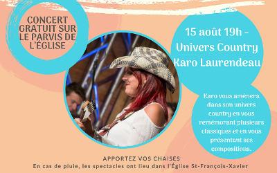 Verchères en Musique est country avec Karo Laurendeau