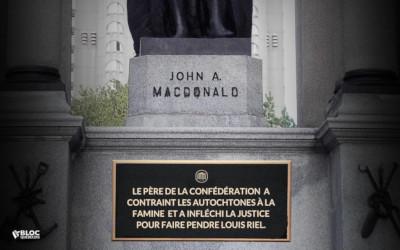 Affaire du vandalisme des statues de John A. Macdonald: «Au lieu de retirer les statues, pourquoi ne pas raconter leur vraie histoire?» — Xavier Barsalou-Duval