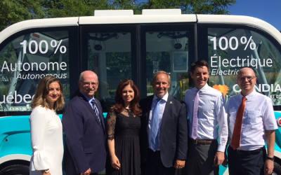 Première historique québécoise: Québec lance le premier projet pilote de véhicule autonome sur voie publique