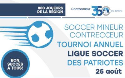 Finale du tournoi annuel de la ligue de soccer des Patriotes: environ 850 joueurs de soccer à Contrecœur le 25 août