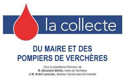 La Collecte du Maire et des pompiers de Verchères
