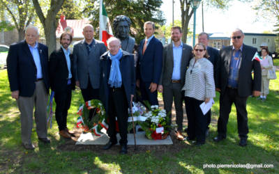 Le Conseil municipal et les employés de la Municipalité de Verchères honorent la mémoire d'un Grand concitoyen