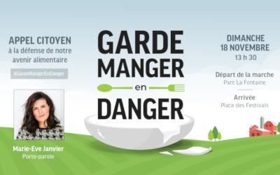 Mobilisation citoyenne « Garde-manger en danger »: 14 départs en autobus offerts gratuitement partout en Montérégie!
