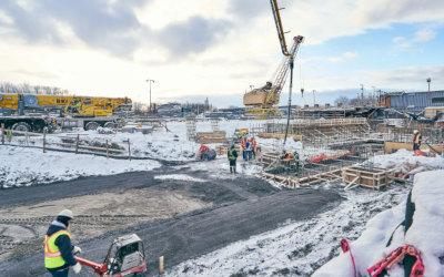 Les travaux de 160 millions $ dans la modernisation des installations d'ArcelorMittal à Contrecoeur vont bon train