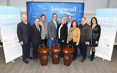 L'agglomération de Longueuil et la SÉMECS concluent une entente pour le traitement des matières organiques