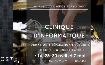 La clinique informatique du Cégep de Sorel-Tracy est de retour!