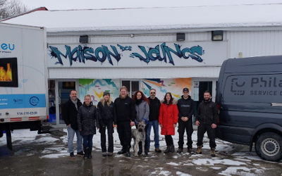L'entreprise verchèroise Gazibleu inc. s'implique socialement auprès de la Maison des Jeunes de Verchères