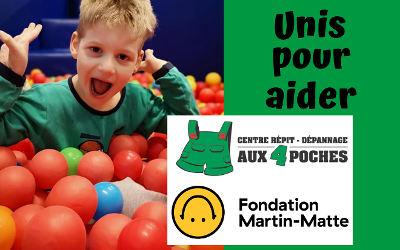 La Fondation Martin Matte soutient Le Centre de Répit-Dépannage aux Quatre Poches!