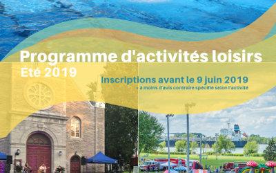Verchères: le programme d'activités loisirs de l'été 2019 est en ligne
