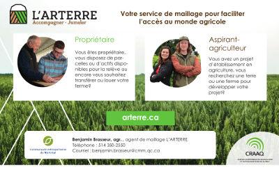 ARTERRE : un nouvel outil pour faciliter l'accès au monde agricole dans la région métropolitaine