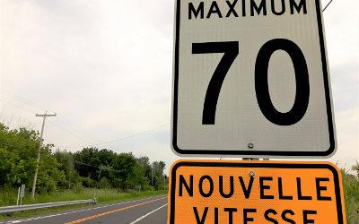Nouvelle signalisation sur la route 132 à Contrecœur: réduction de vitesse entre la 10e avenue et la montée Saint-Roch